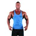 GymBeam Majica brez rokavov - sky modra